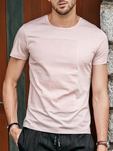 Load image into Gallery viewer, Men Round Neck Solid T-Shirt