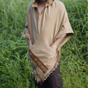 Men Hooded Poncho Wild Festival Rave Shawl