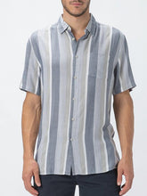 Load image into Gallery viewer, Men Striped Short Sleeve Shirt