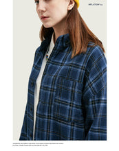 Load image into Gallery viewer, Men Casual Plaid Blouse Shirt
