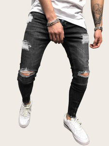 Men Winter Stretch Jeans