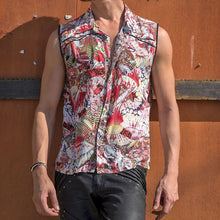 Load image into Gallery viewer, Men Hawaii Style Printed Sleeveless Shirt