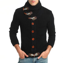 Load image into Gallery viewer, Men Horn Buckle Knitted Sweater Cardigan