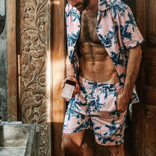 Load image into Gallery viewer, Men Vacation Print Two-Piece Set