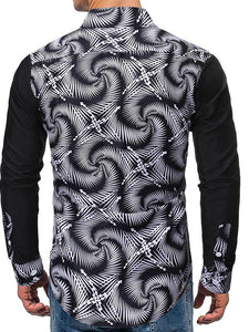 Men Printed Blouse Shirt