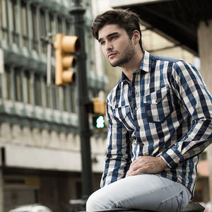 Men Casual Pocket Blouses&Shirts Tops
