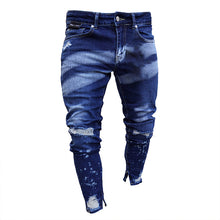 Load image into Gallery viewer, Men Blue Tapered Jeans