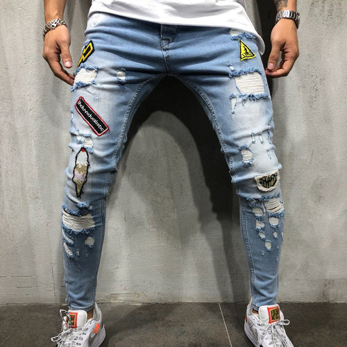 Men Fit Hip-Hop Style Jeans