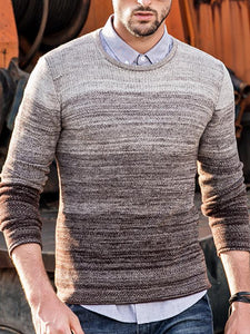 Men Simple Sweater Tops Slim