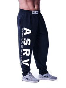 Men Letter Printing Loose Pants