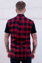 Load image into Gallery viewer, Men Lapel Plaid Shirt