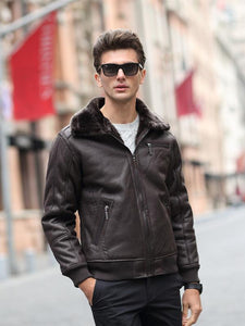 Men Long Sleeves Zipper Lapel Cardigan Coat