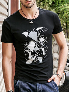 Men Basic Round Neck T-Shirt