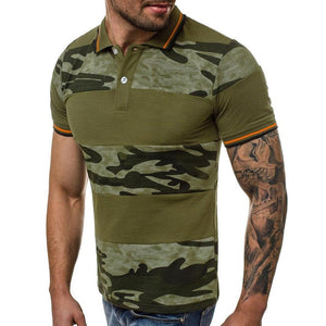Men Short Sleeve Camouflage Printing T-Shirt