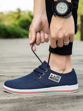 Load image into Gallery viewer, Men Casual Lace-up Canvas Shoes