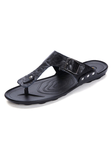 Men Casual Flat Flip-flops Buckle Sandal
