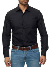 Load image into Gallery viewer, Business Men Pure Color Shirt
