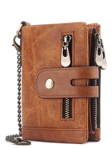 Solid Gentleman Zipper Wallet