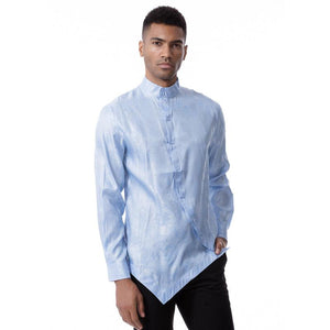 Men Round Neck Solid Shirt