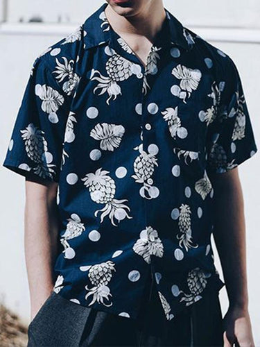 Men Holiday Print Vacation Shirt