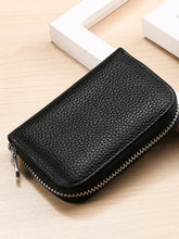 Load image into Gallery viewer, Solid Simple Zipper Leather Wallet