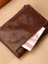 Load image into Gallery viewer, Solid zipper Leather Long Wallet