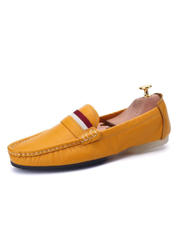 Solid Slip-on Casual Loafers Shoes