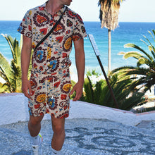 Load image into Gallery viewer, Men Printed Short Sleeves  Short Bottom Casual Suit
