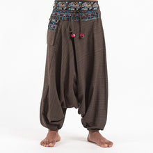 Load image into Gallery viewer, Men Pinstripe Low-Top Harem Pants
