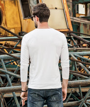 Load image into Gallery viewer, Men Casual Round Neck Blouse Shirt