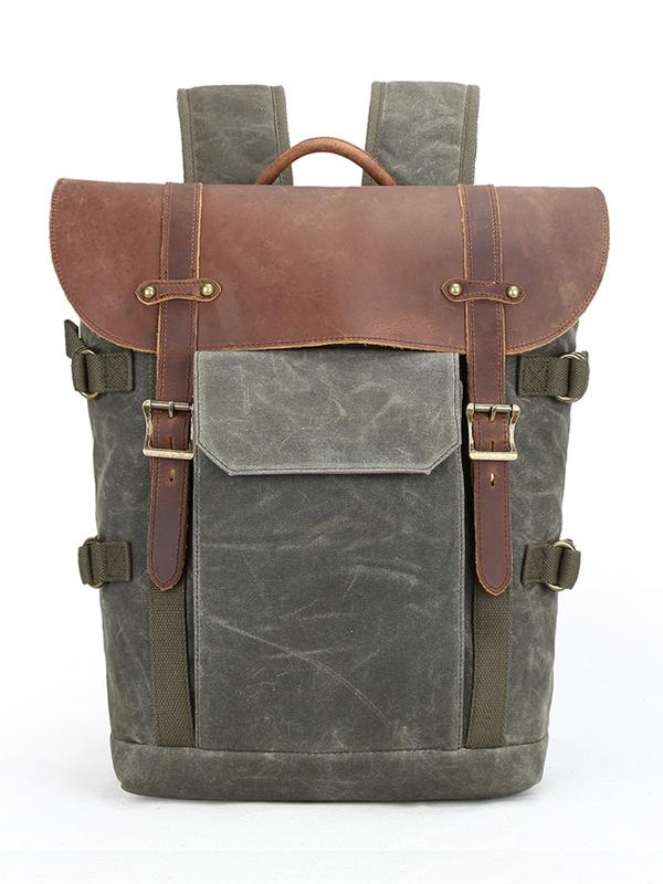 Split-joint  Buckles Mid-Size Backpack
