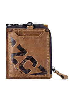 Letter Printed Zipper Casual Wallet
