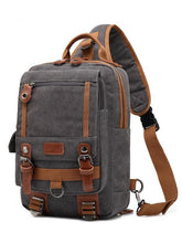 Load image into Gallery viewer, Casual Split-Joint Canvas Laptop Backpack