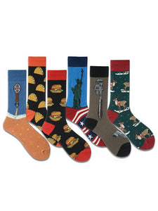 6Pairs Casual Art Breathable Cotton Socks(For US Size7-10)