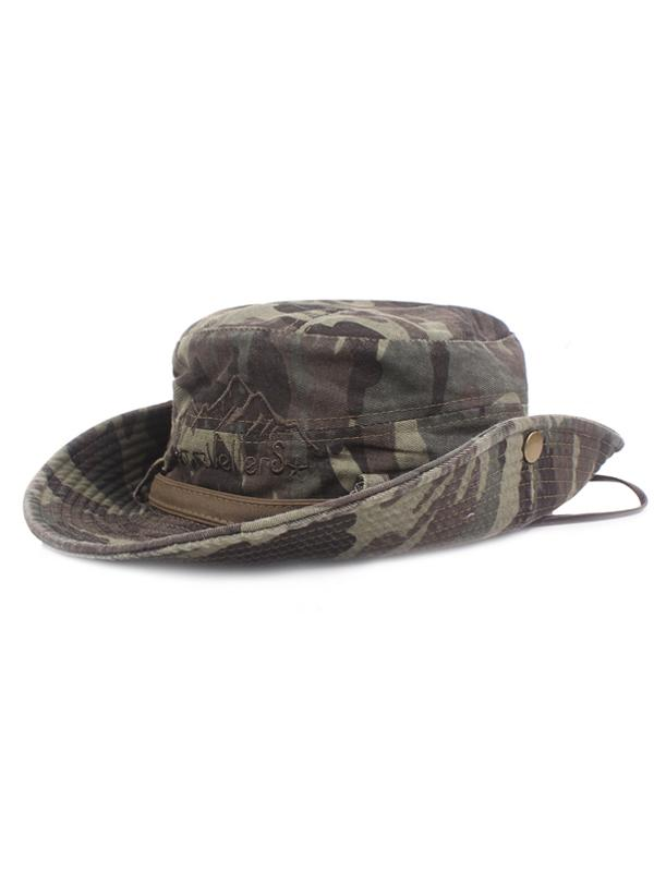 Men Casual Camouflage Bucket Hat