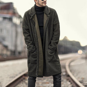 Men Warm Wool Double Side Wearable Coat