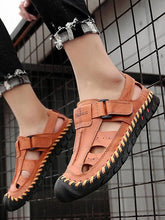 Load image into Gallery viewer, Men Leather Beach Outdoor Sandal Shoes