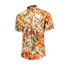 Load image into Gallery viewer, Men Animal Printed Short Sleeves Shirt