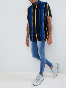 Men Short Sleeves Blouse&Shirt Top