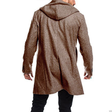 Load image into Gallery viewer, Men Hoodie Solid Double Breasted Coat