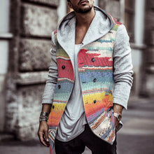Load image into Gallery viewer, Men Rainbow Print Hoodie Parka