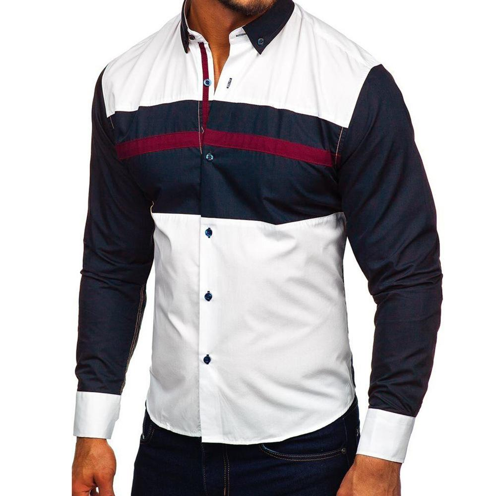 Men Color Block Fashoin Shirt