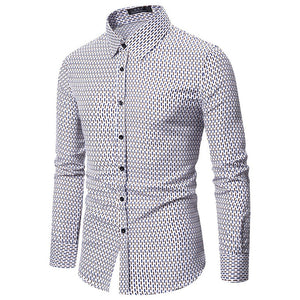 Men Long Sleeve Printing Shirt