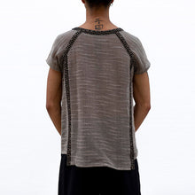 Load image into Gallery viewer, Men Solid Frayed Style Short Sleeves T-Shirt
