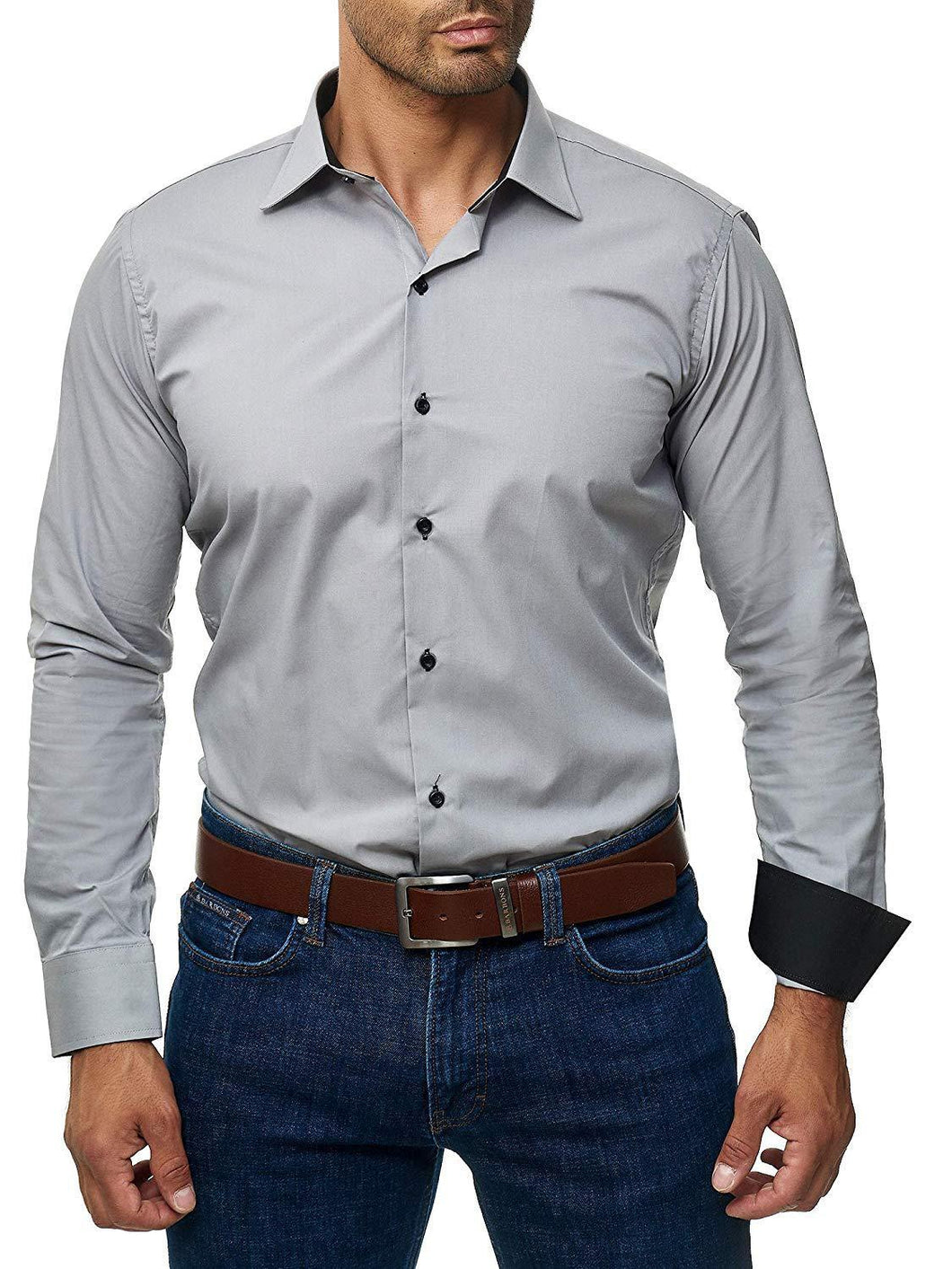 Business Men Pure Color Shirt