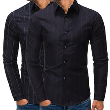 Load image into Gallery viewer, Business Men Grid Printing Shirt