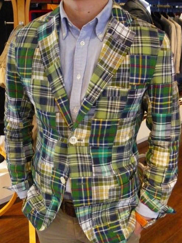 Men Revere Collar Plaid Blazer