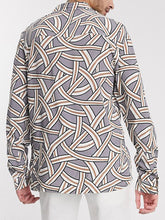 Load image into Gallery viewer, Men Long Sleeves Line Print Shirt