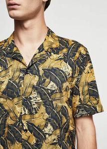 Men Vintage Printed Street Shirt