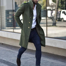 Load image into Gallery viewer, Men Lapel Solid Outerwear Coat